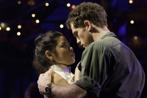 Miss-Saigon-Eva-Noblezada-as-Kim-and-Alistair-Brammer-as-Chris-Photograph-by-Michael-Le-Poer-Trench
